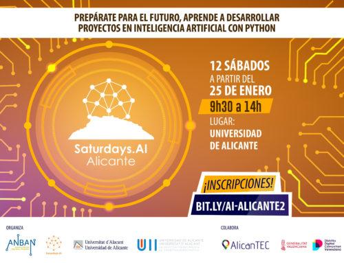 Segunda edición de los AI Saturdays de Inteligencia Artificial desde el 25 de enero